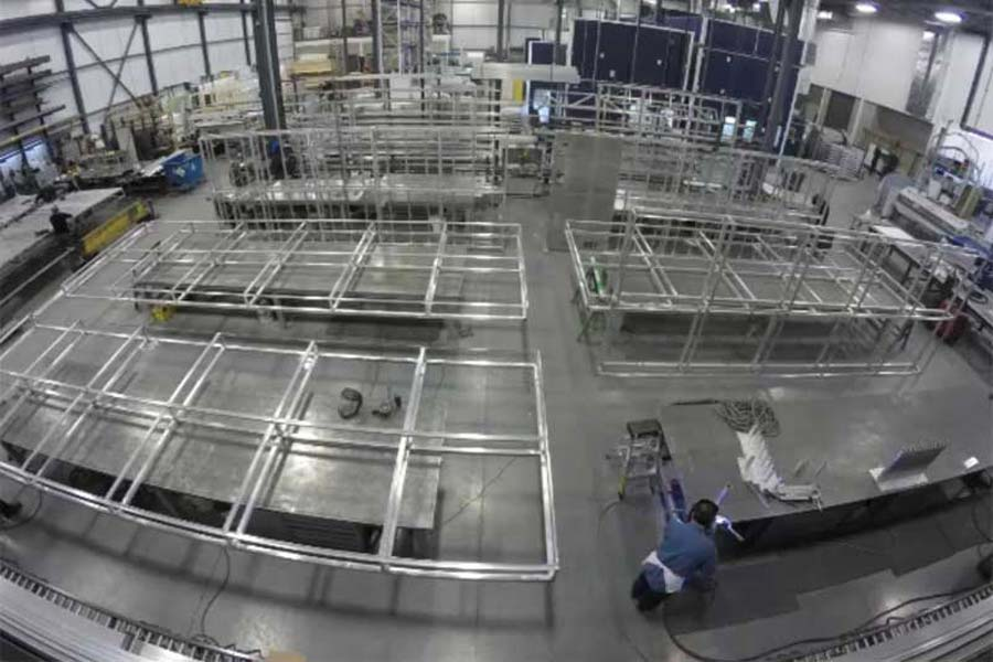 Cabinet structure assembly.