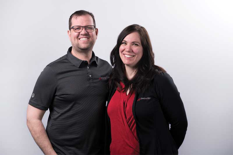 SpeedPro Signs' co-owners Dave and Jennifer Metituk, winners of Sign Media Canada's 2018 Signmaker of the Year Award.