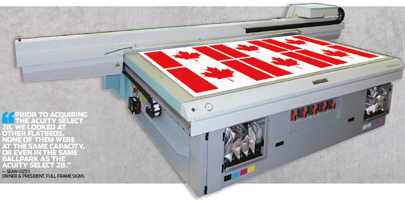 Full Frame Signs expands its print capabilities with Fujifilm's Acuity Select 28.