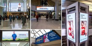 Daktronics and Cadillac Fairview have partnered to install 14 displays across seven retail locations.
