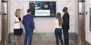 Captivate has partnered with Cadillac Fairview to install digital office media such as large-format screens in high traffic areas.