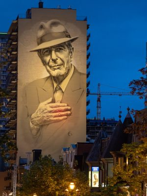 MU's Leonard Cohen mural is now permanently illuminated.
