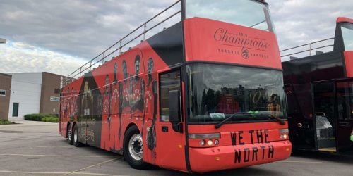 Motive Media completed multiple vehicle wraps for the Toronto Raptors' championship parade.