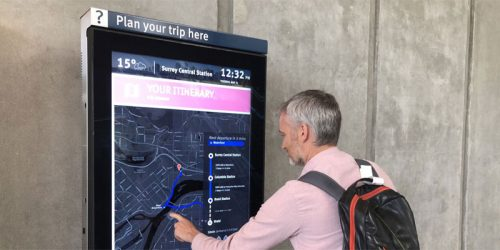 Digital interactive studio iGotcha Media has partnered with Lamar Advertising, to provide touchscreen kiosks for Vancouver's regional transportation authority, TransLink.