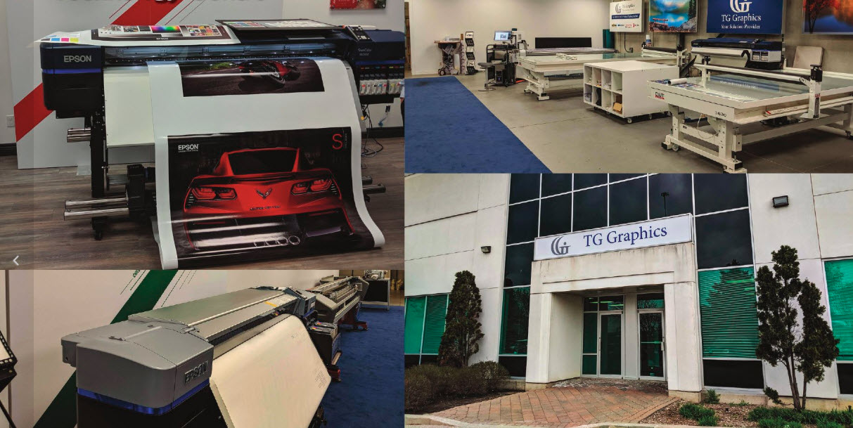 TG Graphics' print technology centre showcases a wide range of printing equipment that caters to the sign industry.