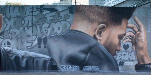 In November, a 12.1-m (40-ft) mural was unveiled in Desmond 'Etika' Amofah's memory.