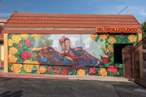 El Pollo Loco Inc., has completed its dynamic new mural in Los Angeles.