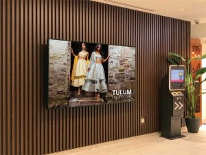 At Yorkville Village, wayfinding kiosks and large-format light-emitting diode (LED) displays are used to entice retail shoppers and deliver advertising opportunities.