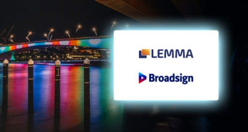Montreal- and Toronto-based digital signage solutions company Broadsign has announced a partnership with digital-out-of-home (DOOH) platform Lemma.