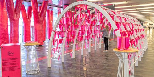 Palais des congrès de Montréal and MASSIVart have joined forces for the Palais Seasons, a series of art installation projects, inviting Montrealers to rediscover their convention centre.