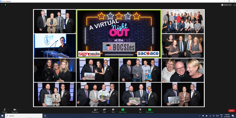 Sign Media Canada, together with the Sign Association of Canada (SAC-ACE), will honour the outstanding work of signmakers across the country during a virtual night at the Best of Canada's Sign Industry Awards (BOCSIes).