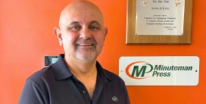 Minuteman Press in Mississauga, Ont., has remained open during COVID-19 as an essential business. Franchisee Riaz Qazi and his team are offering a range of services to clients, printing social distancing products and other items to notify customers about updated hours of operation, revised menus, and guidelines.