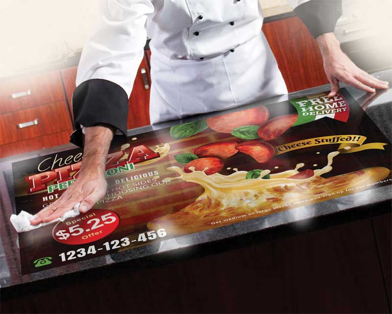 While it is important to ensure the design or message of a graphic remains undamaged by cleaning, in most situations, it is  the adhesive that is most crucial.