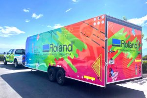 Roland DGA's Demo Days Roadshow truck made the first stop on its nationwide tour at Pacific Coast Sign Supply in Damascus, Ore., enabling area print professionals to meet exclusively with product experts and see Roland's latest digital imaging devices in action.
