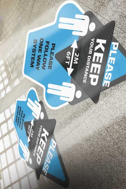 Key safety messages such as hand washing and physical distancing (2 m [6.5 ft] apart) can now be seen everywhere.