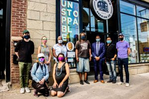 """The Riverside Business Improvement Area (BIA) won the Community Engaged award for their storefront storytelling series """"Humans of Riverside: Giving Voice and Making Space for Black, Indigenous, and People of Colour (BIPOC)."""""""