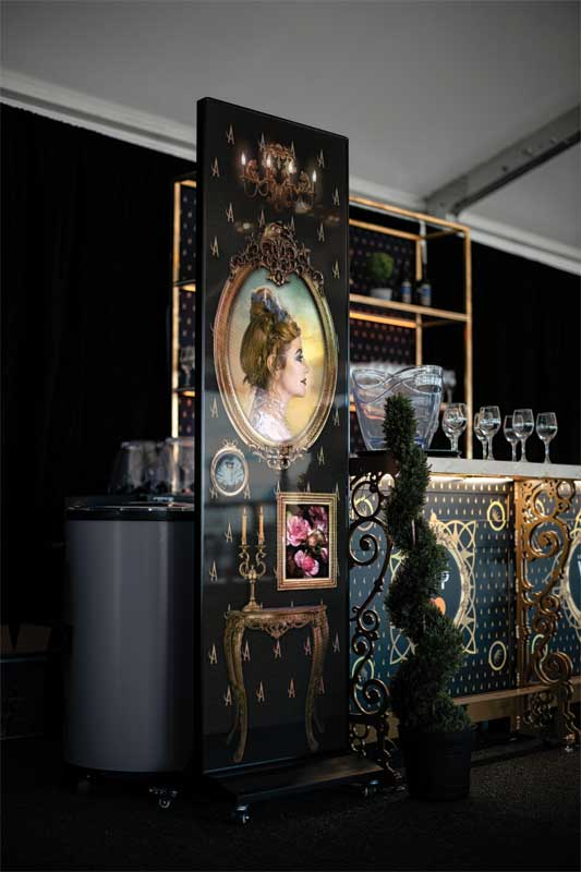 The light-emitting diode (LED) displays attracted and engaged guests as they waited to receive their drinks and offered brand continuity.