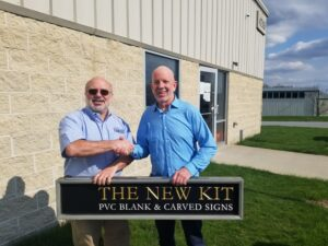 Left to right: Peachtree City Foamcraft's general manager, Mike Fetter, and The New Kit's founder, Lee Holcomb
