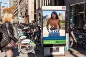 BIXI street level advertising to increase awareness.