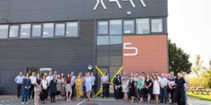 Xaar staff at the inauguration of the new global headquarters.